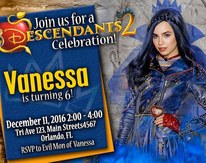 Birthday Invitation Disney Descendants 2