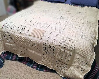Heirloom Crochet Aran Bedspread