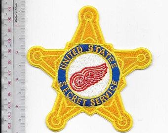 US Secret Service USSS Michigan Detroit Field Office Agent Service Red Wings Patch