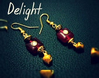 Beautiful Bead Earring in Red Color