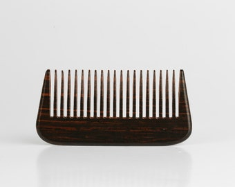 Age of Beard Small Handmade Dark Wood Beard Comb - Real Wood - High Quality