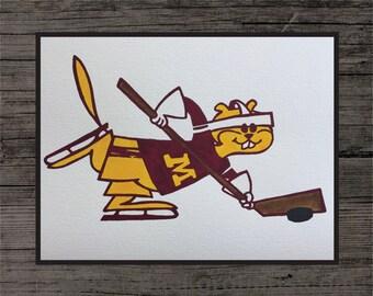 Minnesota Golden Gophers Hockey Painting
