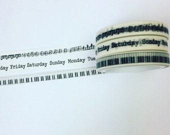 Set of three skinny washi tapes