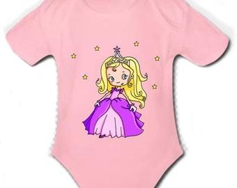 Princess short-sleeved onesie