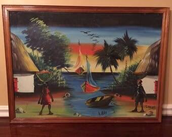 Haitian Original Signed Painting Vintage