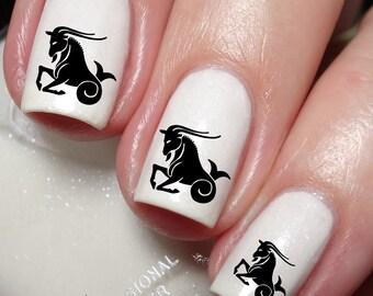 Zodiac Sign Symbol Sign Capricorn (The Goat Dec22_Jan19) Nail Art Sticker Water Transfer Decal 89