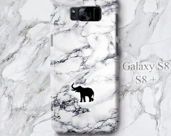 Elephant for Samsung Galaxy S8 Plus Case,  Elegant iPhone 7 Plus Cover, Cute Animal Lover Clip Art Print Protective 3D Edgeless