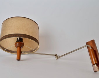 Modernist Dutch swing arm wall lamp from the 60s in Danish style