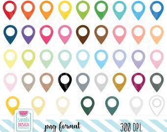 Pin Locators Icon Clipart. Personal and comercial use.