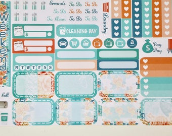 ROSE MINT | Mini Happy Planner sticker set | MHP3