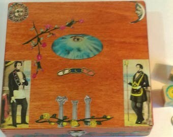 Odd Fellows Folk Art Box