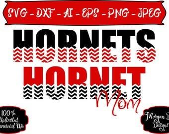 Hornet Mom SVG - Basketball SVG - Baseball SVG - Football svg - Soccer svg -Hornets svg - Files for Silhouette Studio/Cricut Design Space