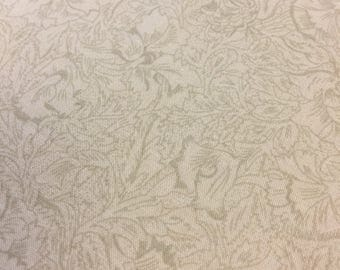 Vintage Brown Fabric Floral. 1/4 yard. Floral Fabric Vintage. Brown Blender Fabric. Vintage Brown Quilting Cotton