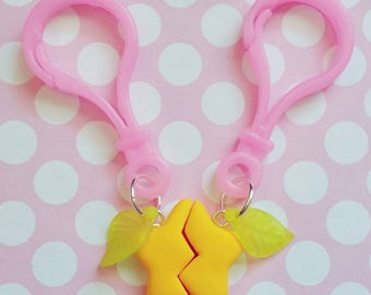 Kingdom Hearts Inspired Paopu Fruit Friendship Charm Bag Clip