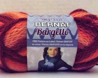 Bernat Bargello Yarn ~ Colour # 43714 Coral ~ 100 Grams ~ 90 Yards ~ #6 Super Bulky