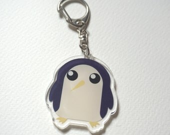 Adventure Time Gunter acrylic charms