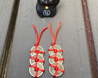 feng shui LUCK COINS - 2 X 3 coins (6 coins in all)