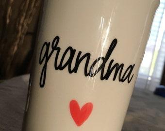 Custom Travel Mug- Custom quote mug- Travel mug for coffee- Grandma mug- Gift for secret santa- christmas mug- christmas gift