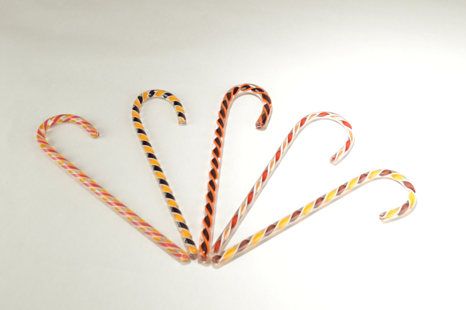 Hand blown glass candy canes