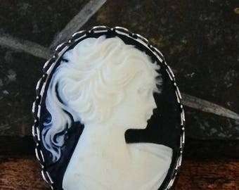 Lady White Cameo Brooch