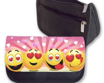 Emoji FOUR HEARTS Pencil case / Make-up bag