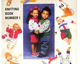 Jarol 'Paintpot' Knitting pattern book number 1, 16 patterns for Baby and Children's clothes.