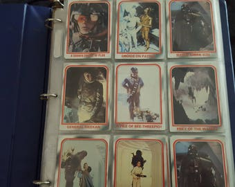 Star Wars Vintage Collectable Trading Cards