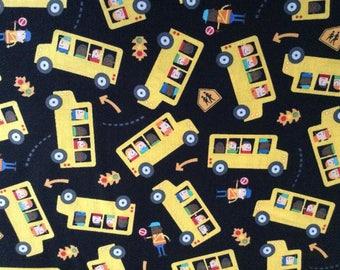 School Bus Fabric, Back to School Fabric