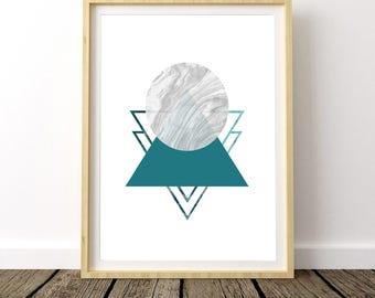 Nordic Print, Circle Print, Scandinavian Print, Nordic Art Design, Geometric Print, Geometric Art, Geometric Wall Art, Art Prints
