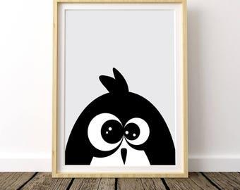 Penguin Nursery Decor, Penguin Poster, Penguin Kids Room, Baby Penguin Nursery, Baby Penguin Wall Art, Baby Penguin Print, Penguin Nursery