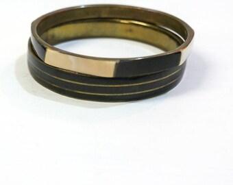 Vintage brass bracelets