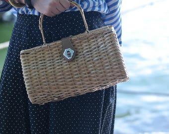 Wicker Handbag VINTAGE YEARS 40