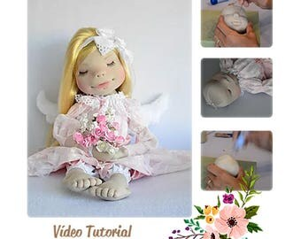 Doll tutorial, PDF fabric doll, dolls soft, tutorial, pattern, dolls, dolls, waldorf, waldorf face pdf, dolls, doll pattern