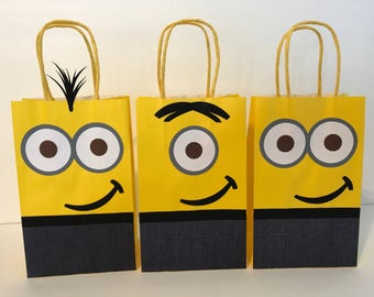 Minions Birthday Party Favor Bags