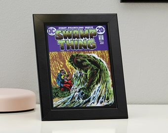 Swamp Thing DC Comics Framed Genuine Postcard House of Secrets Gift Frame, XS066
