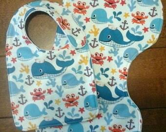 Boutique Baby Bib and Burp Cloth set
