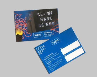 Neon voucher for your individual Neon Christmas Present