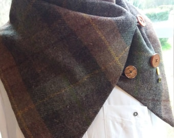 Harris tweed collar/scarfe/neck cuff