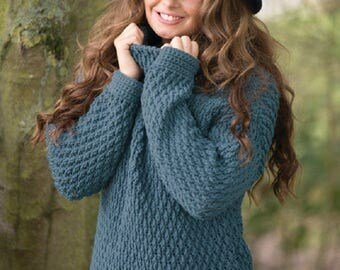 Snuggle Up Sweater Crochet Pattern only Woolly5 Yarn