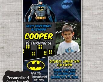 Batman invite,Batman Birthday invitation,JPG file,Birthday Invite,Batman invitation,Caped Cruisader,DPP242