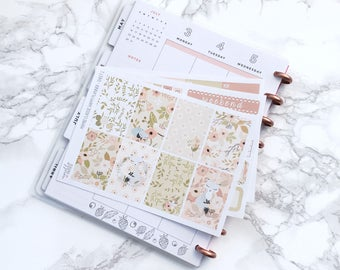 MATTE Classic HP Foxy Floral Planner Sticker Kit - For Classic Happy Planners