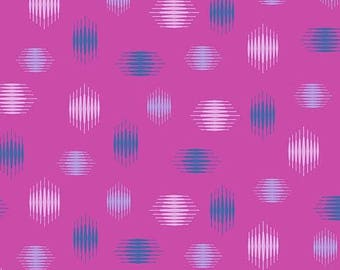 Tattooed in Highline Purple by Libs Elliot from Andover Fabrics - 1/2 yard