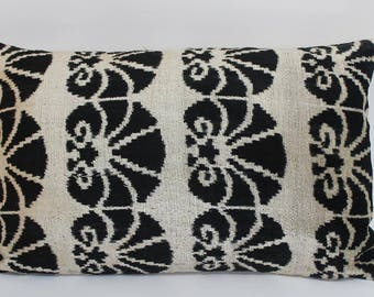 black ikat pillow case x decorative pillows for couch
