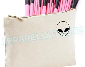 Alien pocket logo Make Up Bag  ufo makeup girls womens Case Makeup Gift Clutch bag accessory bag fashion swag dope gift tumblr hipster