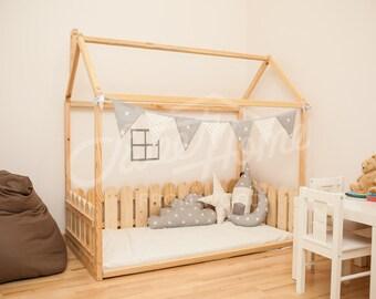 Toddler Bed House Bed Children Bed Frame Bed Kid Nursery