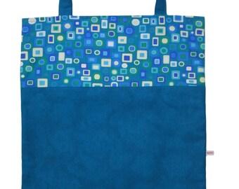 Retro box tote bag turquoise