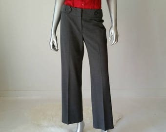 90s Pants | Gray Pants | Petite Clothing | Preppy Clothing | Gray Trousers | Vintage Small