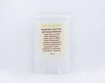 Lemongrass Lotion Bar | Travel | Gift | Hand Cream | Salve | Butter | Dry Skin | Moisturizer | Soft | Stick | Balm | Spa | Massage | Favor