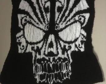 Custom Hand Knitted Skull Blanket