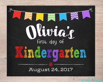 First Day of School Sign, Back To School Sign, Chalkboard Sign, School Photo Prop, First Day of, Kindergarten, Grade Sign, 1st 2nd 3rd 4th